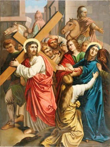jesus meets his motehr